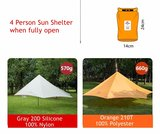 WASSERDICHTE Tarp ORANGE                               _